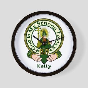 Kelly Clan Motto Wall Clock