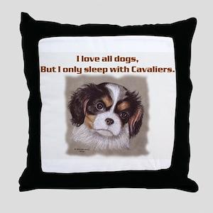 Sleep with Cavs Throw Pillow