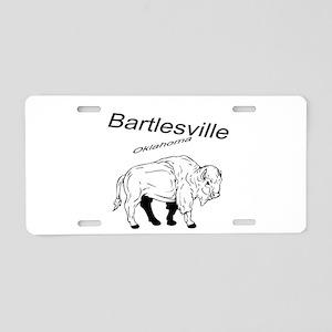 Bartlesville Bison Aluminum License Plate