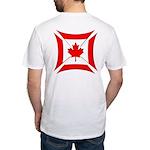 Canadian Biker Cross Fitted T-Shirt