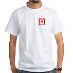 Canadian Biker Cross White T-Shirt