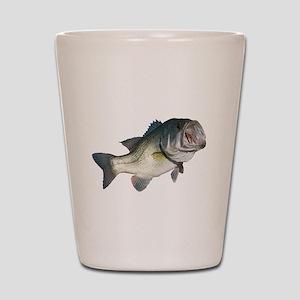 Bass Fisherman Shot Glass