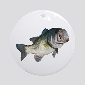 Bass Fisherman Ornament (Round)