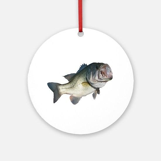 Bass Fisherman Ornament (Round)