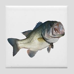 Bass Fisherman Tile Coaster