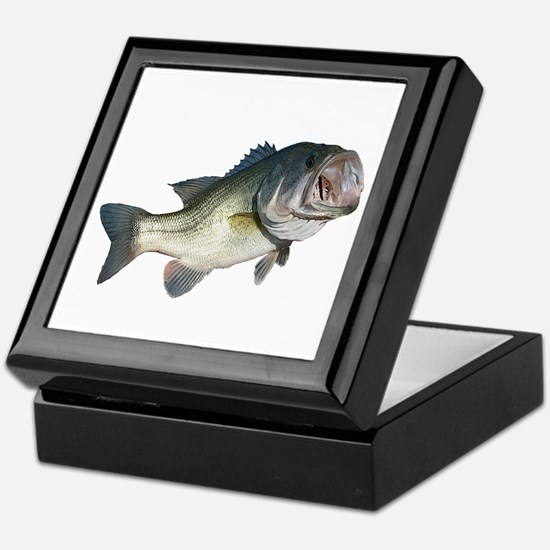 Bass Fisherman Keepsake Box