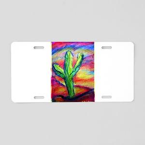 Colorful, Saguaro Cactus, Aluminum License Plate