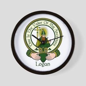 Logan Clan Motto Wall Clock