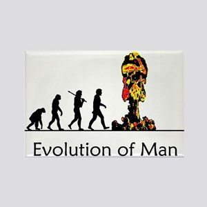 Evolution of Man - Bomb Rectangle Magnet