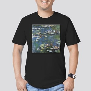 Waterlilies Men's Fitted T-Shirt (dark)
