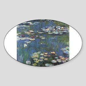 Waterlilies Sticker (Oval 10 pk)