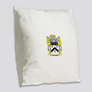 Walker Family Crest - Coat of Burlap Throw Pillow