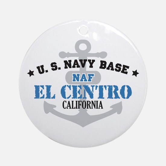 US Navy El Centro Base Ornament (Round)