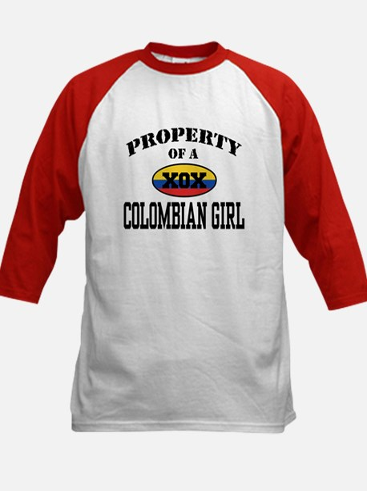 Property of a Colombian Girl Kids Baseball Jersey