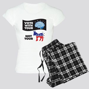 Vote with Your Brain Women's Light Pajamas