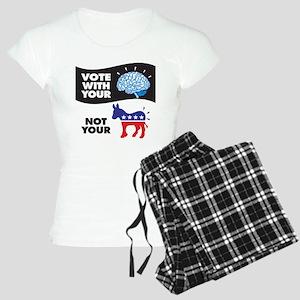Vote with Your Brain Women's Light Pajamas