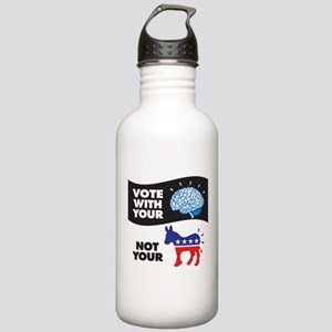 Vote with Your Brain Stainless Water Bottle 1.0L