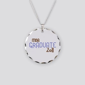 MBA Graduate 2011 (Retro Purple) Necklace Circle C