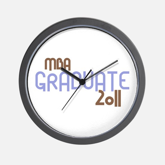 MBA Graduate 2011 (Retro Purple) Wall Clock