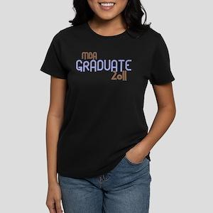 MBA Graduate 2011 (Retro Purple) Women's Dark T-Sh