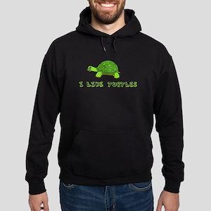 I Like Turtles Hoodie (dark)