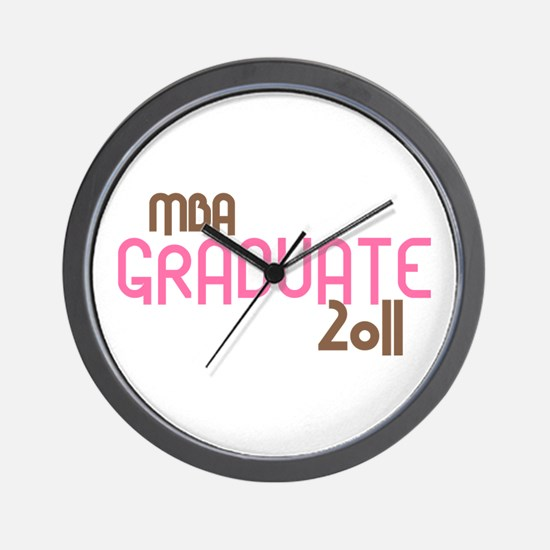 MBA Graduate 2011 (Retro Pink) Wall Clock