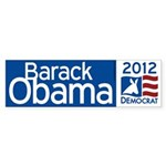 Obama 2012 Sticker (Bumper)