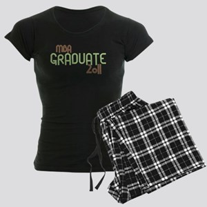 MBA Graduate 2011 (Retro Green) Women's Dark Pajam