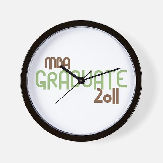 MBA Graduate 2011 (Retro Green) Wall Clock