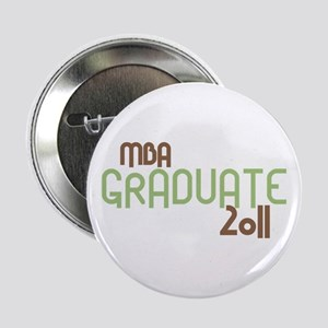 """MBA Graduate 2011 (Retro Green) 2.25"""" Button"""