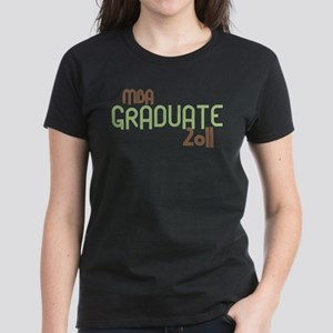 MBA Graduate 2011 (Retro Green) Women's Dark T-Shi