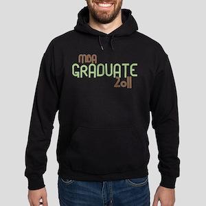 MBA Graduate 2011 (Retro Green) Hoodie (dark)