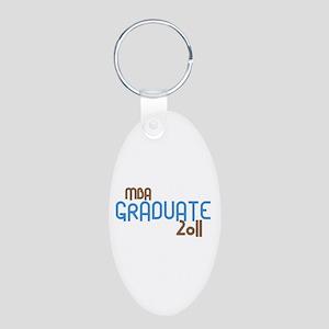 MBA Graduate 2011 (Retro Blue) Aluminum Oval Keych
