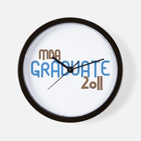 MBA Graduate 2011 (Retro Blue) Wall Clock