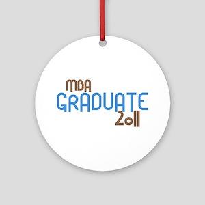 MBA Graduate 2011 (Retro Blue) Ornament (Round)