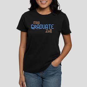 MBA Graduate 2011 (Retro Blue) Women's Dark T-Shir