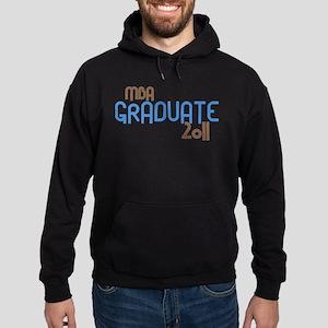 MBA Graduate 2011 (Retro Blue) Hoodie (dark)