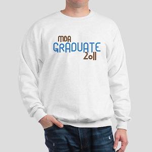 MBA Graduate 2011 (Retro Blue) Sweatshirt