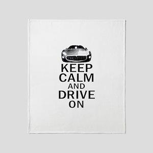 Maserati - Keep Calm Throw Blanket