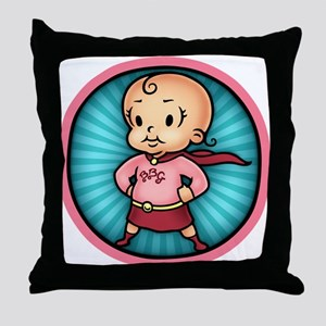 Future Hero Girl Throw Pillow