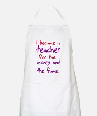 Funny teacher shirts humoring Apron