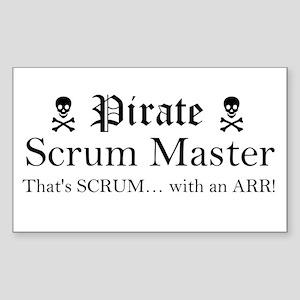 Pirate SM R Sticker (Black) Sticker