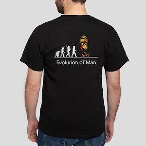 """Evolution"" of Man - War (dar Dark T-Shi"