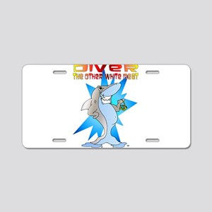 Shark eats Diver Aluminum License Plate