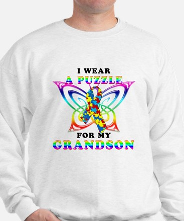 I Wear A Puzzle for my Grandson Sweatshirt