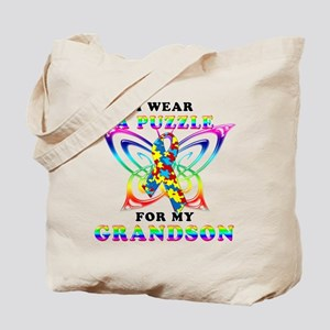 I Wear A Puzzle for my Grandson Tote Bag