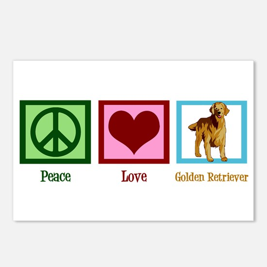 Cute Golden Retriever Postcards (Package of 8)