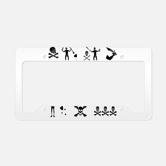 PIRATE MONTAGE License Plate Holder