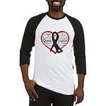 Heart Ribbon Melanoma Baseball Jersey