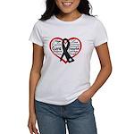 Heart Ribbon Melanoma Women's T-Shirt